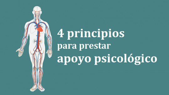 4 basic principles for providing psychological support in emergencies