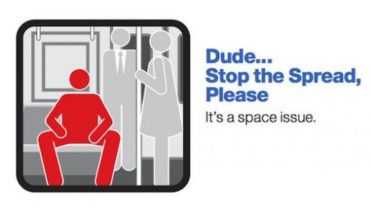 Manspreading: Do men need to be more busy sitting down?